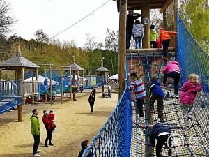 Trasa Żółta Mini Park Linowy