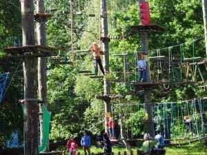 Miejsce na atrakcje dla dzieci - Park linowy w Gdańsku