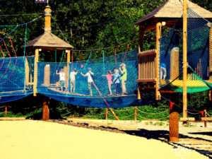 Park linowy w Trójmieście atrakcją dla najmłodszych.